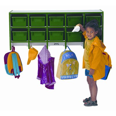 Jonti-Craft 10-Section Wall Mount Coat Locker