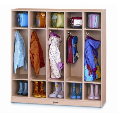 Jonti-Craft 1 Tier 5-Section Coat Locker