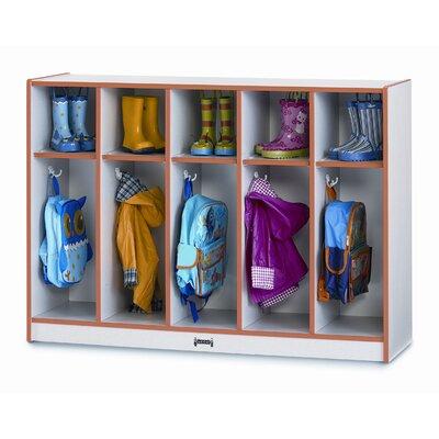 Jonti-Craft 1 Tier 5-Section Toddler Coat Locker