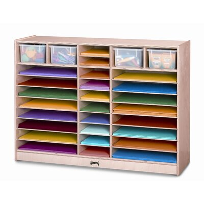 Jonti-Craft Mobile Paper Center 30 Compartment Cubby