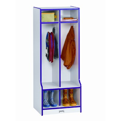 Jonti-Craft 1 Tier 2-Section Double Locker with Step Step 4682JCWW1