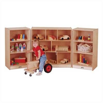 Jonti-Craft Mobile Fold-n-Lock Storage Unit