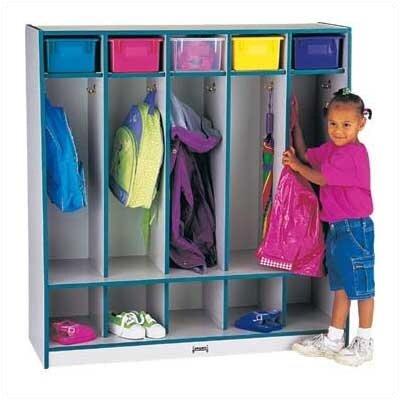 Jonti-Craft Rainbow 1 Tier 5-Sections Coat Locker
