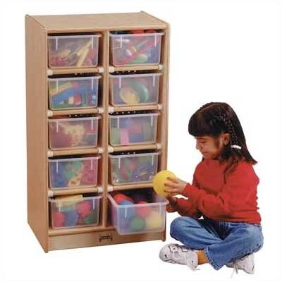 Jonti-Craft Tray Mobile 10 Compartment Cubby Jonti Craft
