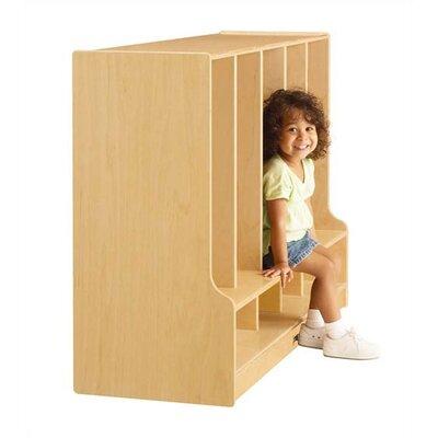 Jonti-Craft KYDZ 1 Tier 5-Sections Toddler Coat Locker