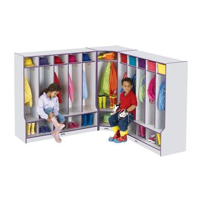 Jonti-Craft KYDZ Rainbow 1-Section Corner Coat Locker