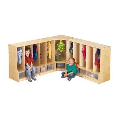 Jonti-Craft KYDZ 1 Tier 1-Section Corner Toddler Coat Locker