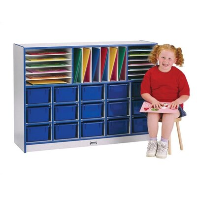 Jonti-Craft ThriftyKYDZ Rainbow Accents Sectional Mobile Cubbie Without Trays