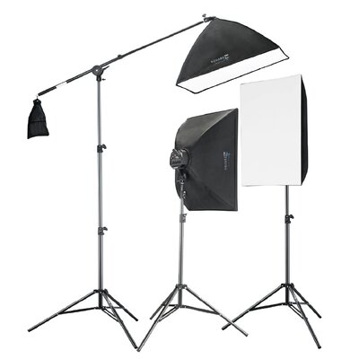Square Perfect Digital Video Softbox Lighting Kit