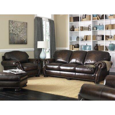 Simon Li Carlton Leather Armchair and Ottoman