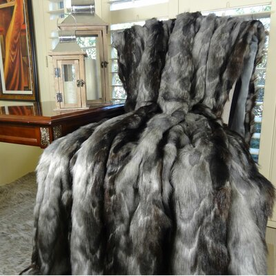 Brandy Fox Faux Acrylic Throw by Plutus Brands