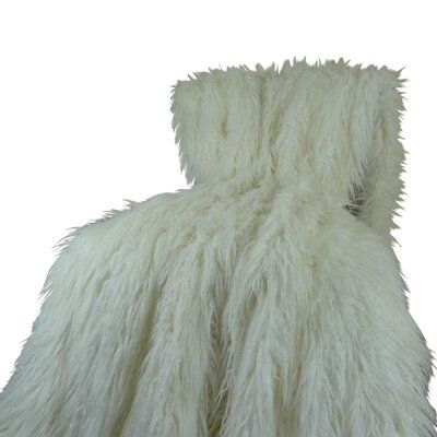 Mongolian Faux Fur Acrylic Blanket by Plutus Brands