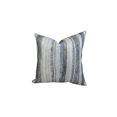 Zigzag Rows Double Sided Linen Throw Pillow by Plutus Brands