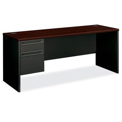 """HON 38000 Series 72""""W x 24""""D Pedestal Desk"""