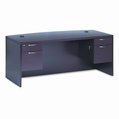 HON 11500 Series Valido Computer Desk with 2 Right & 2 Left Drawers