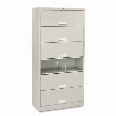 """HON 600 Series 16.75""""D 6-Drawer Lateral File"""