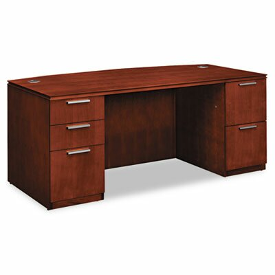HON Arrive Bow Front Executive Desk with 5 Drawers