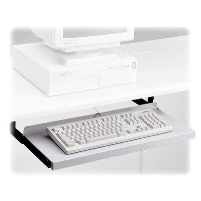 "HON Metal Keyboard Platform, Nonarticulating, 24""Wx10""D, Black"