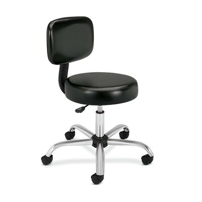 HON Height Adjustable Medical Exam Stool with Back