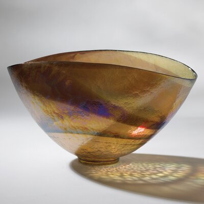 Global Views Golden Large Iridescent Oval Decorative Bowl