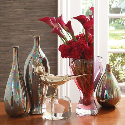Iridescent Glaze Vase by Global Views