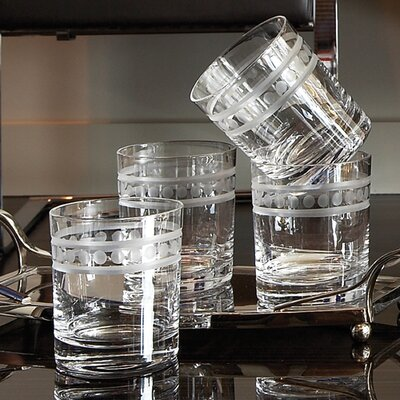 Global Views 2 Band Double Old Fashion Glasses