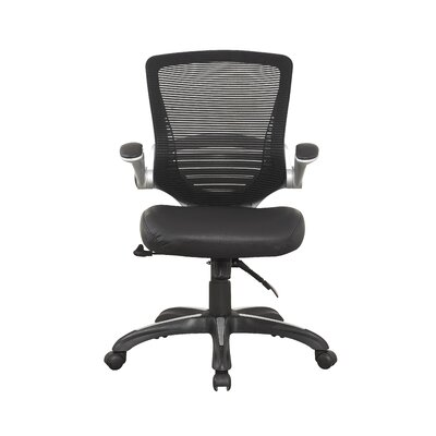 Walden Mid-Back Mesh Conference Chair with Faux Leather Seat by Manhattan Comfort