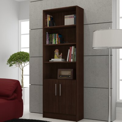 Accentuations Practical Catarina Cabinet with 6- Shelves in Tobacco by Manhattan Comfort