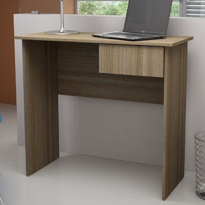 Accentuations Simple Cosenza Work Desk with 1- Drawer in Tobacco by Manhattan Comfort