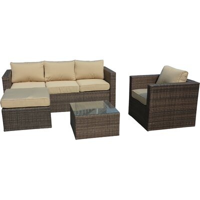 Paisley 4 Piece Deep Seating Group with Cushion by Manhattan Comfort