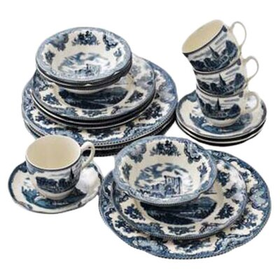Old Britain Castles Blue 20 Piece Dinnerware Set by Johnson Brothers