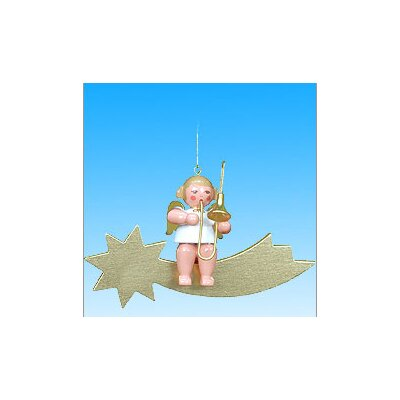 Christian Ulbricht Angel and Instrument on Comet Ornament