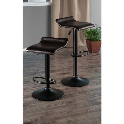 Paris Adjustable Height Swivel Bar Stool with Cushion by Winsome