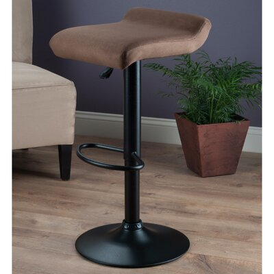 Marni Adjustable Height Bar Stool with Cushion by Winsome