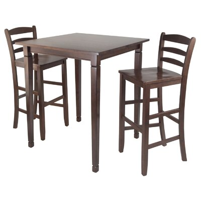 Kingsgate 3 Piece Counter Height Pub Table Set by Winsome