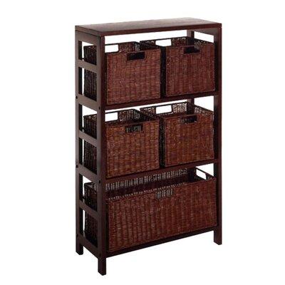 Winsome Espresso 5 Drawers Storage Shelf