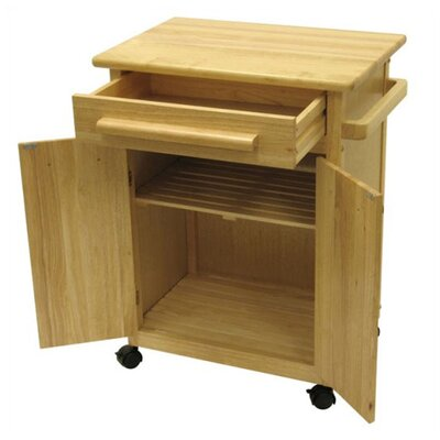 Winsome Basics Kitchen Cart with Wooden Top