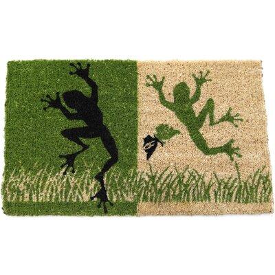 Entryways Handmade Dancing Frogs Doormat