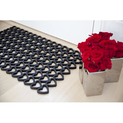Entryways Recycled Rubber Hearts Doormat