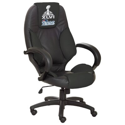Tailgate Toss NFL Officially Licensed High-Back Leather Executive Chair