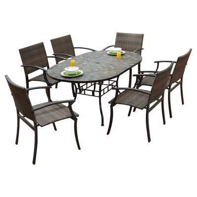 Stone Harbor 7 Piece Dining Set by Home Styles