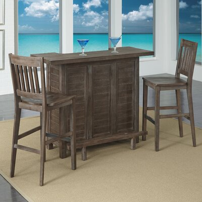 Barnside Bar Set with Wine Storage by Home Styles