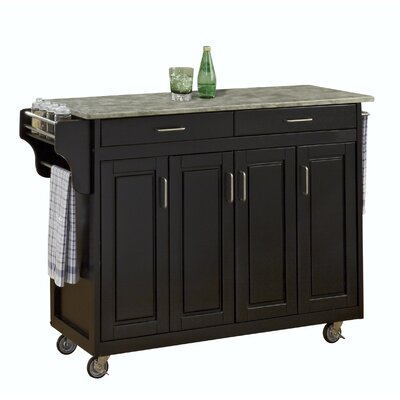 Create-a-Cart Kitchen Island with Concrete Top Product Photo