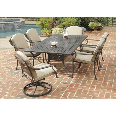 Covington 7 Piece Dining Table Set with Cushions by Home Styles