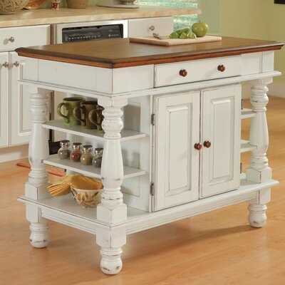 Americana Kitchen Island in Antiqued White Product Photo