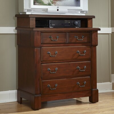 Aspen 4 Drawer Media Chest by Home Styles