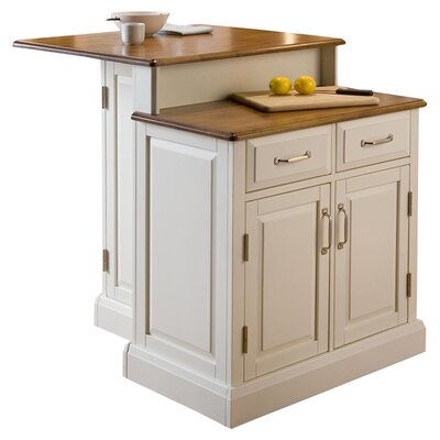 Woodbridge Kitchen Island with Wooden Top Product Photo