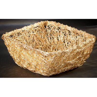 Gilded Square Twist Wire Mesh Basket by Kindwer