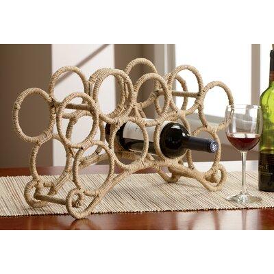 9 Bottle Jute Rope Wine Rack by Kindwer