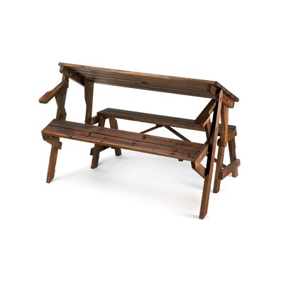 Zingz Amp Thingz Transforming Wood Garden Bench Amp Picnic